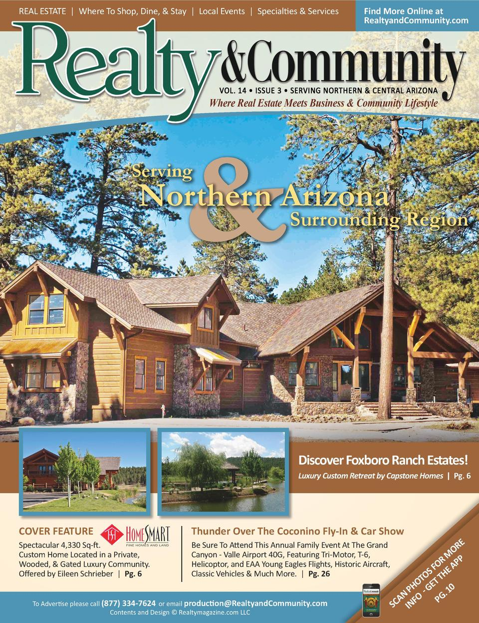 REAL ESTATE   Where To Shop, Dine,   Stay   Local Events   Specialties   Services  Find More Online at RealtyandCommunity....