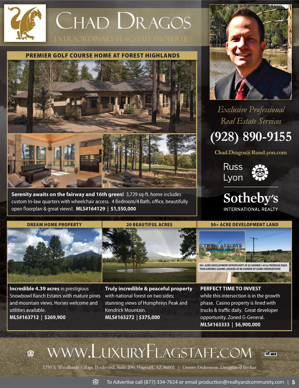 Chad dragos Extraordinary Flagstaff Properties PREMIER GOLF COURSE HOME AT FOREST HIGHLANDS  Exclusive Professional Real E...