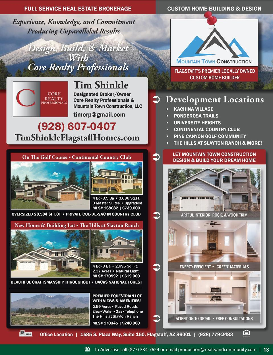 CUSTOM HOME BUILDING   DESIGN  FULL SERVICE REAL ESTATE BROKERAGE  Experience, Knowledge, and Commitment Producing Unparal...
