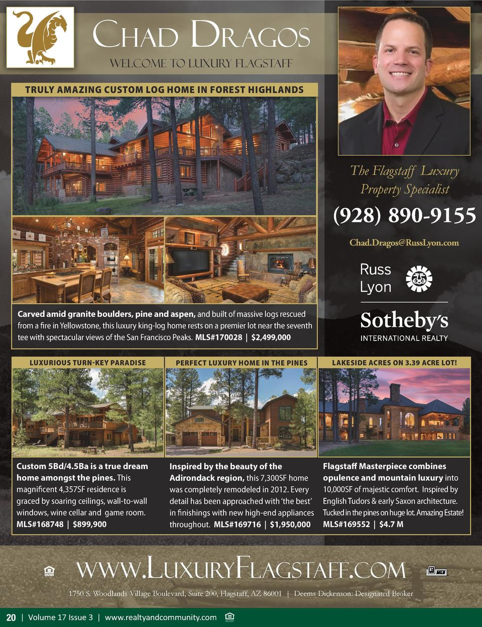 chad dragos Welcome To luxury flagstaff TRULY AMAZING CUSTOM LOG HOME IN FOREST HIGHLANDS  The Flagstaff Luxury Property S...