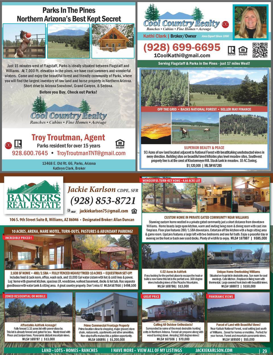Parks In The Pines Northern Arizona   s Best Kept Secret Ranches     Cabins     Fine Homes     Acreage  Kathi Clark   Brok...