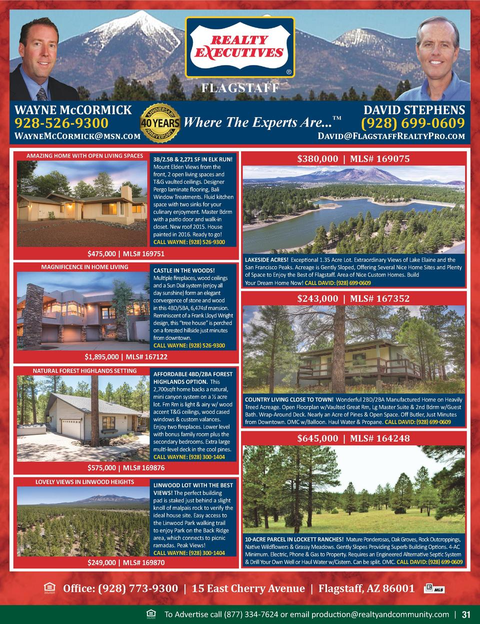 FLAGSTAFF WAYNE McCORMICK  Where The Experts Are...       928-526-9300  WayneMcCormick msn.com AMAZING HOME WITH OPEN LIVI...