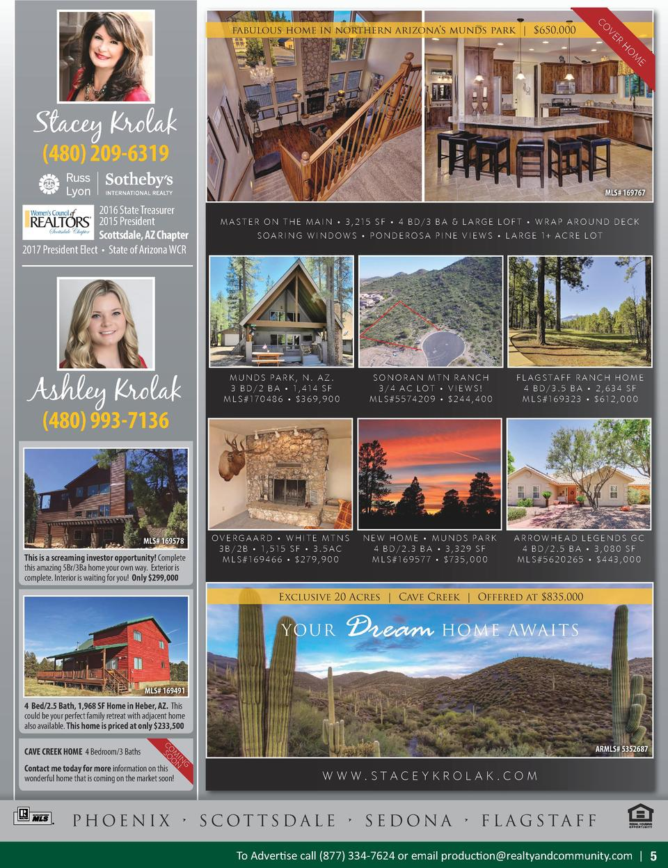 R VE CO  fabulous home in northern arizona   s munds park    650,000  E M O H  Stacey Krolak  480  209-6319  MLS 5514733 1...