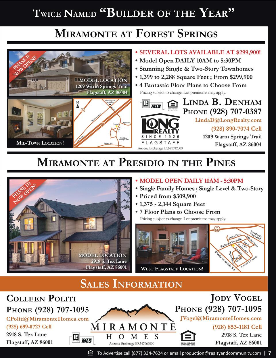 Twice Named    Builder of The  Year     miramoNTe aT foreST SPriNgS II    E EN S A P PH W O O N  MODEL LOCATION 1209 Warm ...