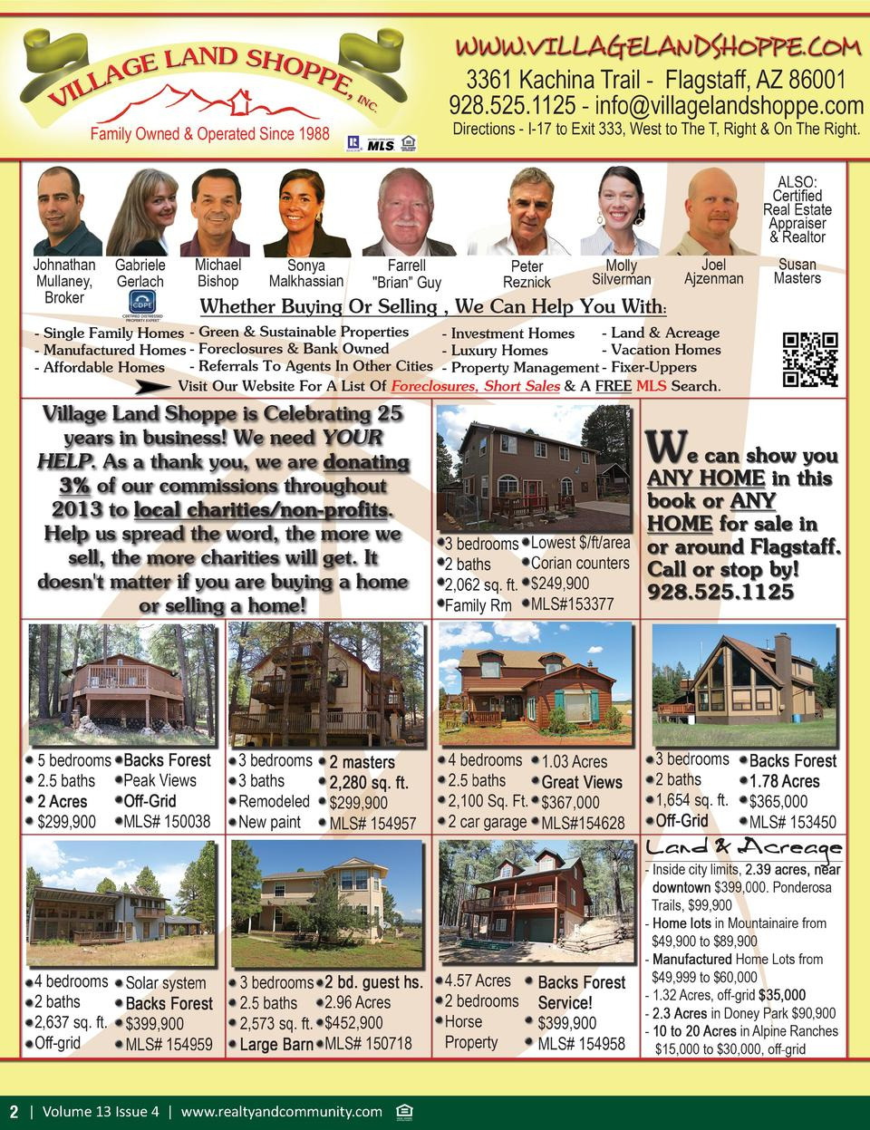 2   Volume 13 Issue 4   www.realtyandcommunity.com