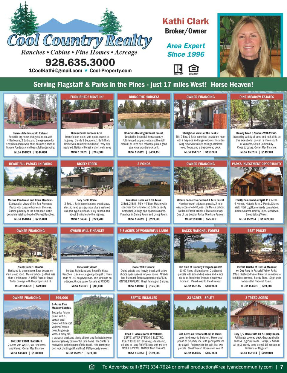 Kathi Clark Broker Owner  Ranches     Cabins     Fine Homes     Acreage  928.635.3000  Area Expert Since 1996  1CoolKathi ...