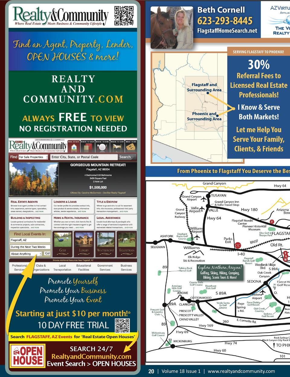 AZ Virtual  Beth Cornell BACKS NATIONAL FOREST   623-293-8445  FlagstaffHomeSearch.net  Find an Agent, Property, Lender, O...