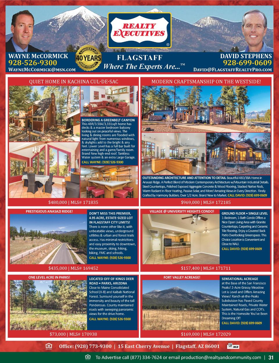 WAYNE McCORMICK  FLAGSTAFF Where The Experts Are...     928-526-9300  WayneMcCormick msn.com  QUIET HOME IN KACHINA CUL-DE...