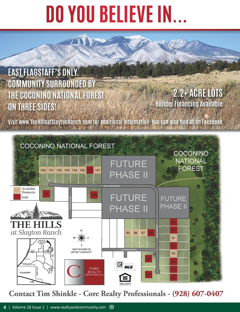 DO YOU BELIEVE IN... EAST FLAGSTAFF   S ONLY COMMUNITY SURROUNDED BY THE COCONINO NATIONAL FOREST ON THREE SIDES   2.2  AC...
