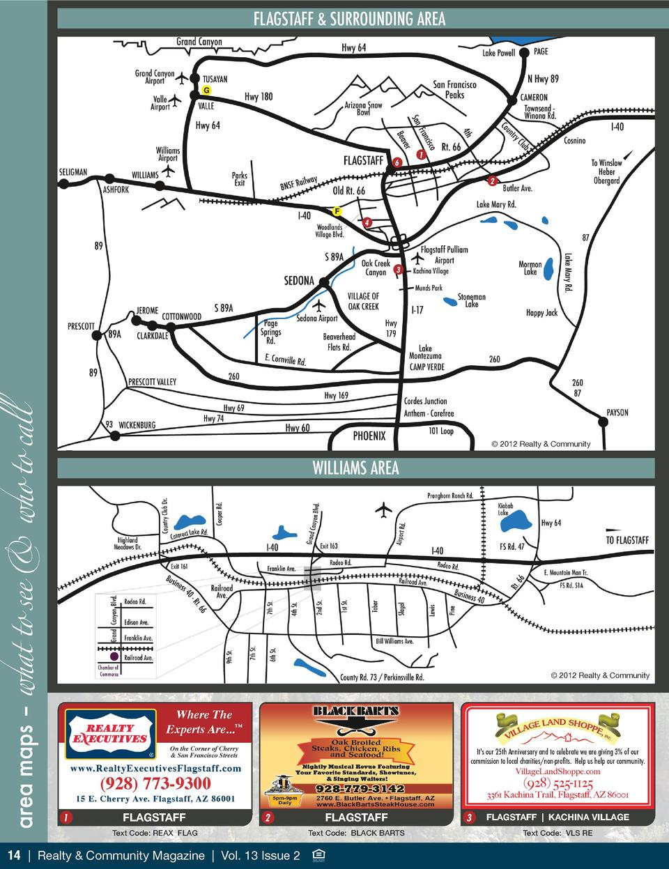 FLAGSTAFF   SURROUNDING AREA  G  6  1 2  F  4  area maps     what to see   who to call  3     2012 Realty   Community  WIL...