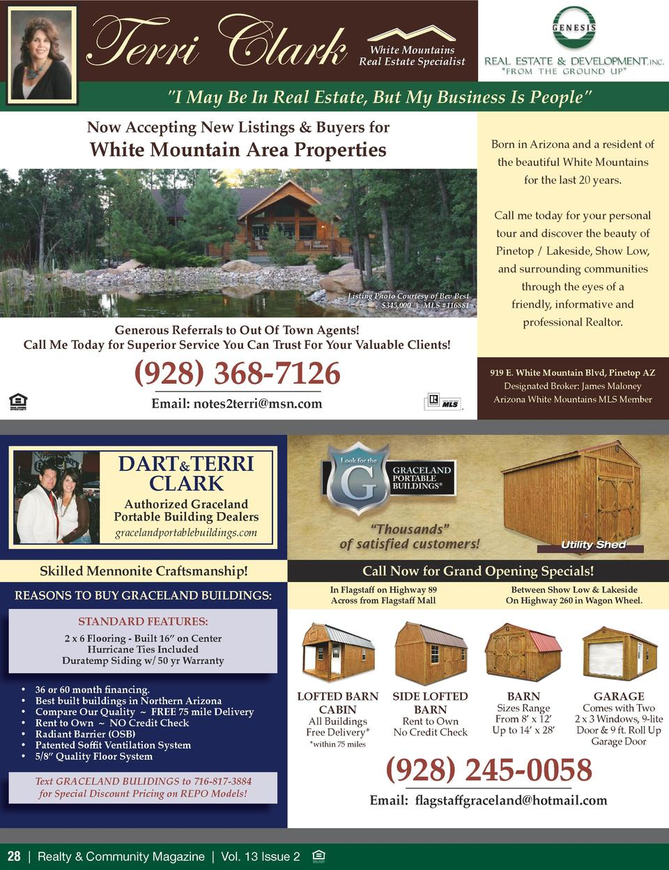 Terri Clark  White Mountains Real Estate Specialist   I May Be In Real Estate, But My Business Is People   Now Accepting N...