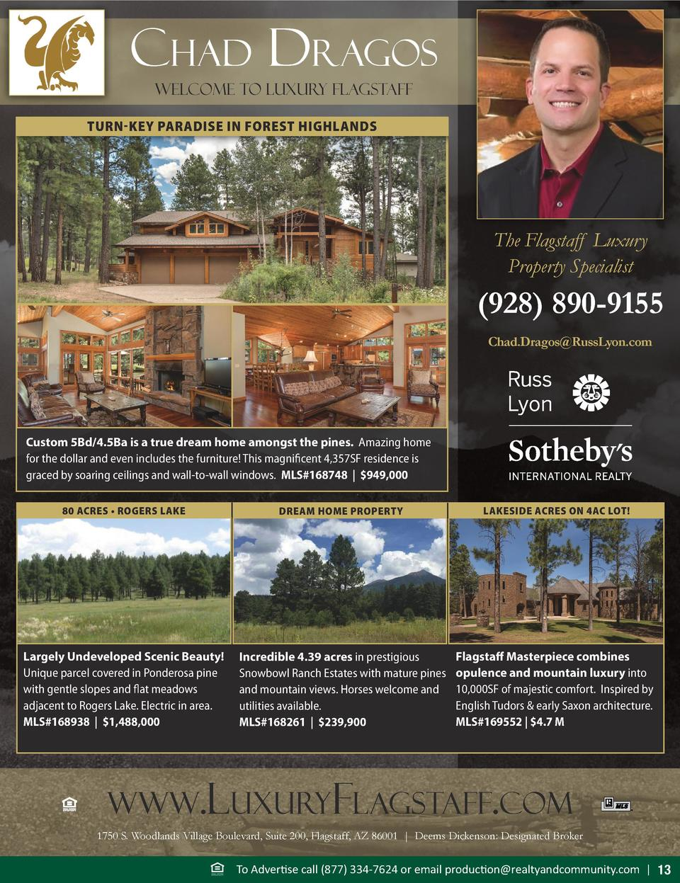 chad dragos Welcome To luxury flagstaff TURN-KEY PARADISE IN FOREST HIGHLANDS  The Flagstaff Luxury Property Specialist   ...