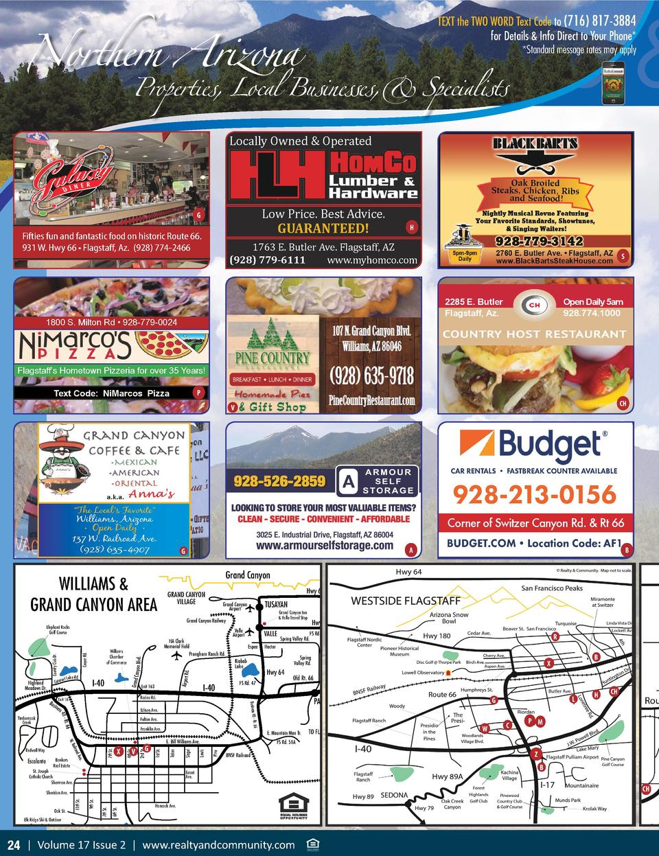 Northern Arizona attractions, speci What To See   Properties, Local Businesses,  Specialists TEXT the TWO WORD Text Code t...