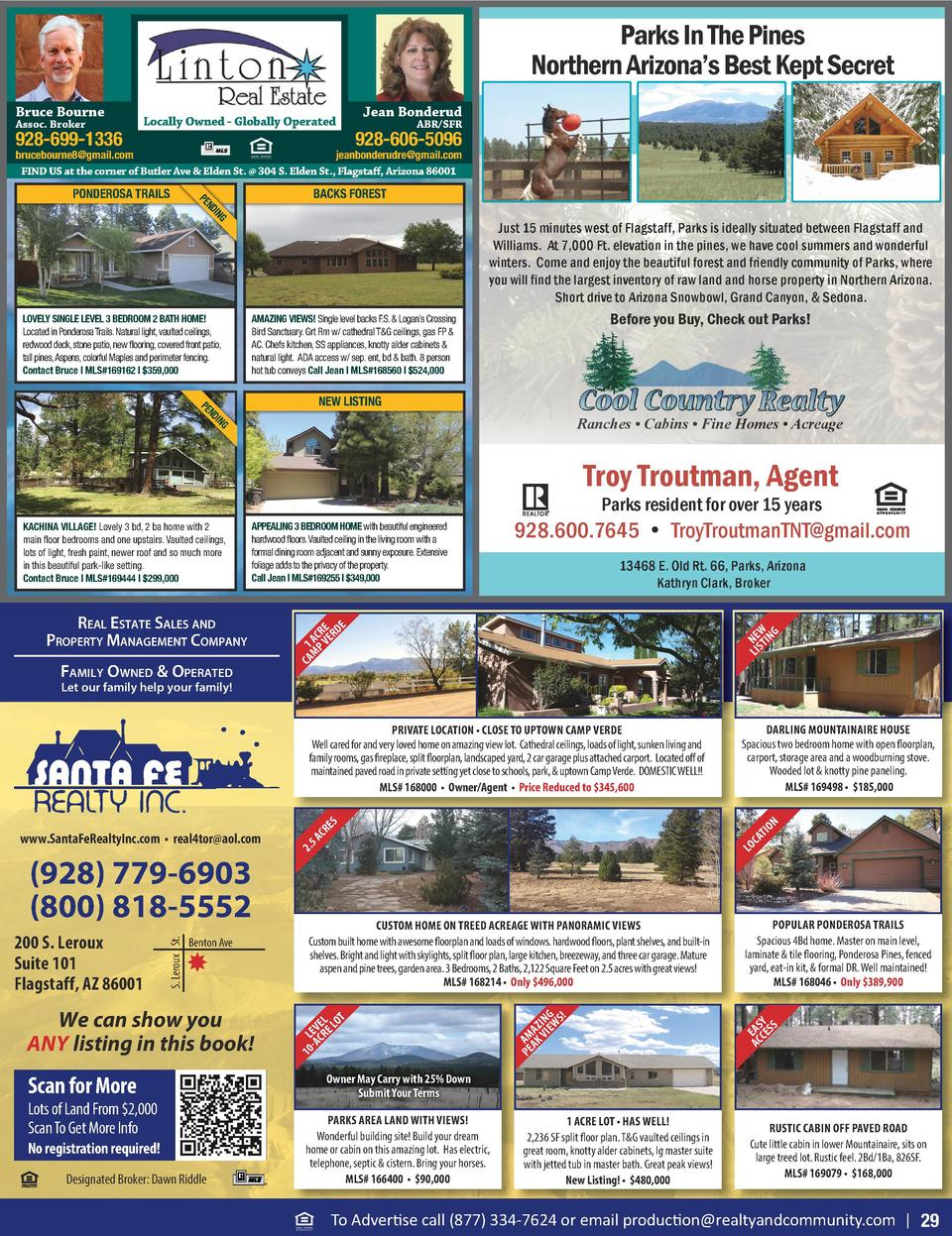 Parks In The Pines Northern Arizona   s Best Kept Secret Bruce Bourne Assoc. Broker  928-699-1336  Locally Owned - Globall...
