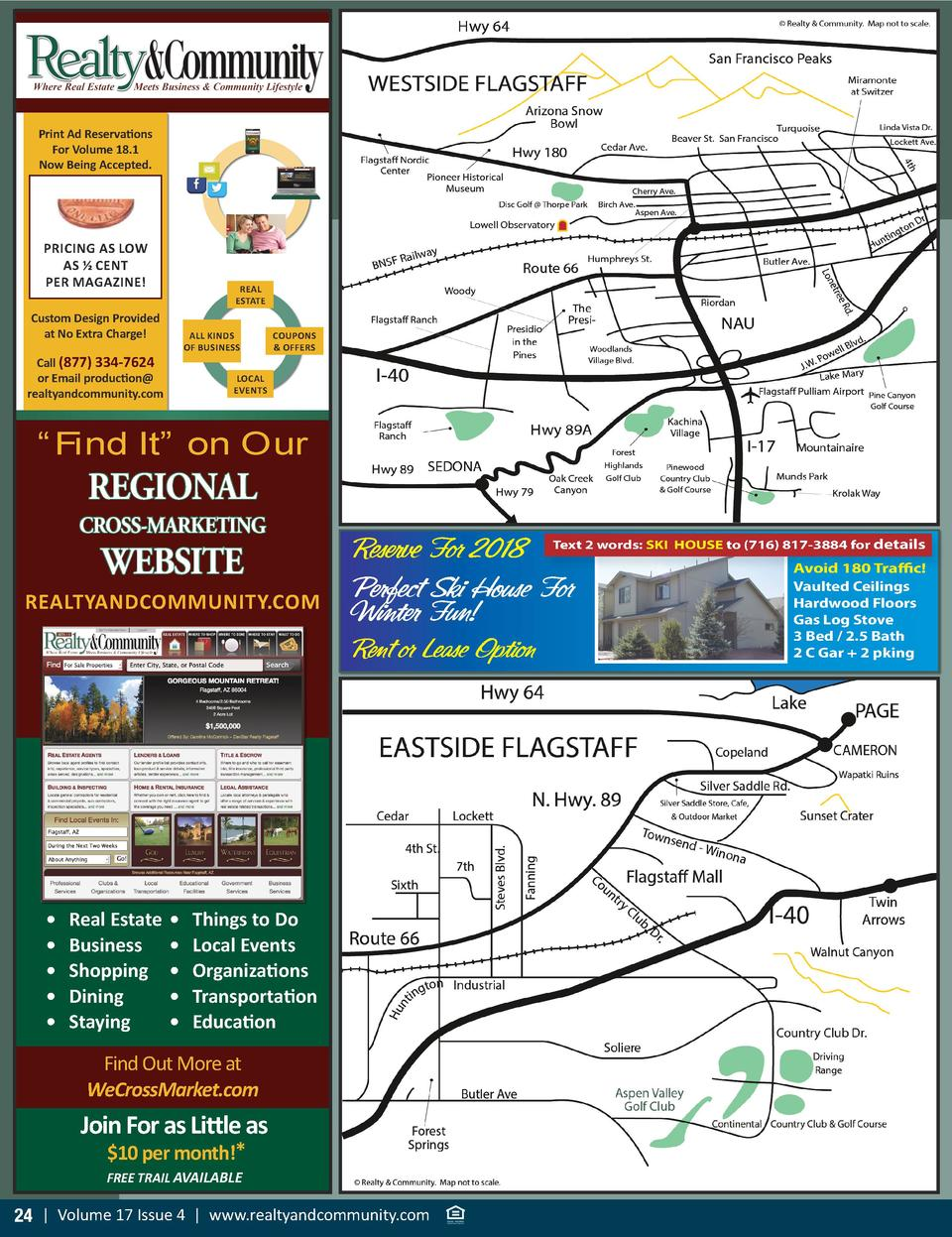 Print Ad Reservations For Volume 18.1 Now Being Accepted.  PRICING AS LOW AS    CENT PER MAGAZINE   REAL ESTATE  Custom De...