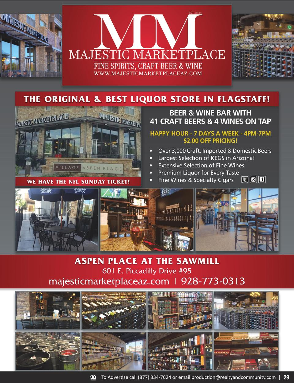 THE ORIGINAL   BEST LIQUOR STORE IN FLAGSTAFF  BEER   WINE BAR WITH 41 CRAFT BEERS   4 WINES ON TAP HAPPY HOUR - 7 DAYS A ...