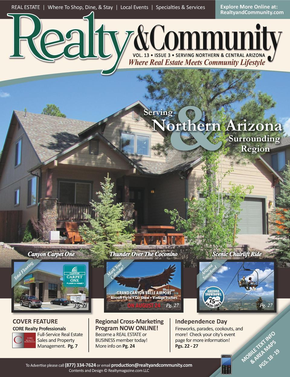 Explore More Online at  RealtyandCommunity.com  REAL ESTATE   Where To Shop, Dine,   Stay   Local Events   Specialties   S...
