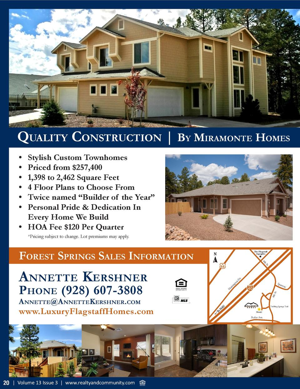 QuAlity construction   By mirAmonte homes                          Stylish Custom Townhomes Priced from  257,400 1,398 to ...