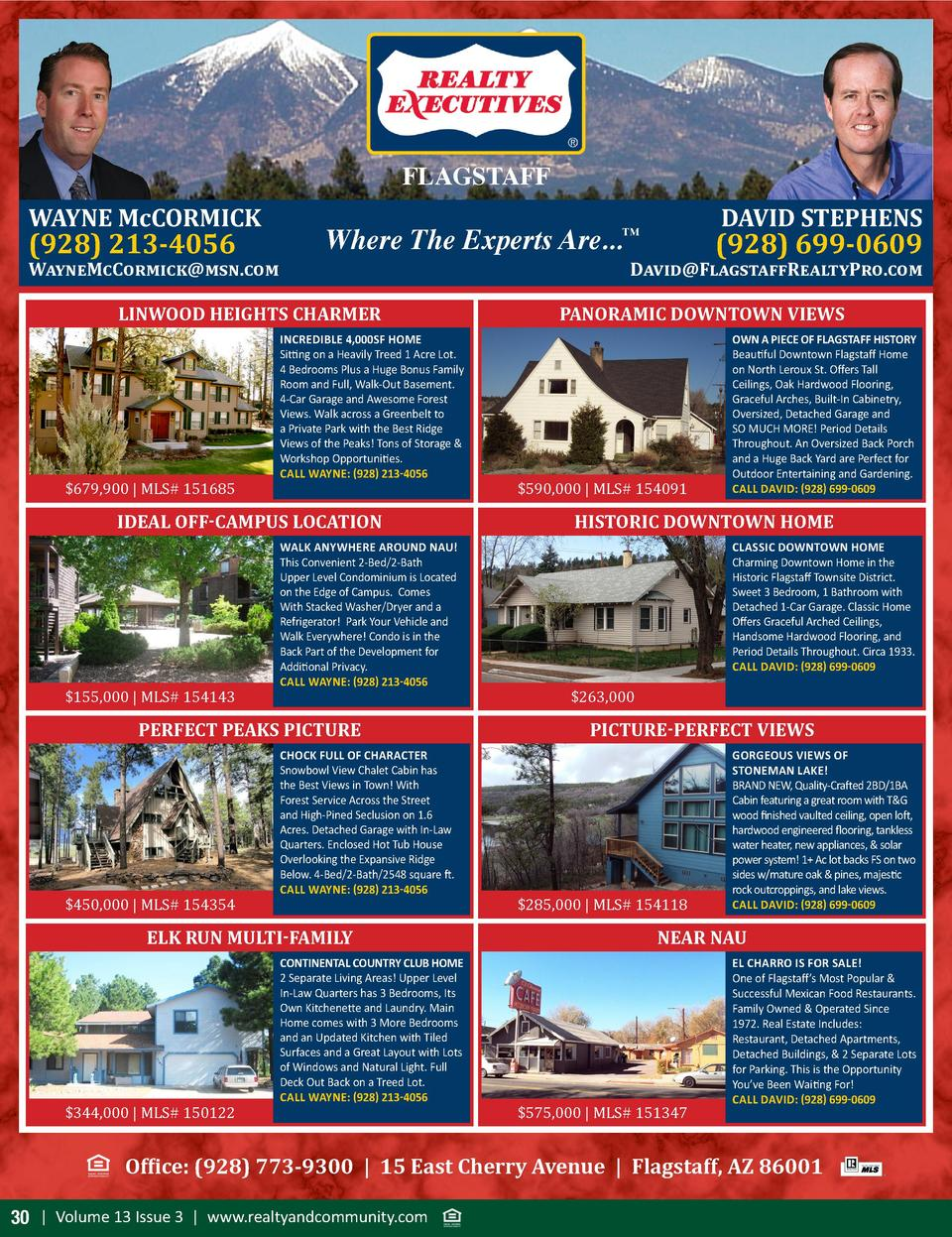 FLAGSTAFF WAYNE McCORMICK   928  213-4056  WayneMcCormick msn.com  Where The Experts Are...  LINWOOD HEIGHTS CHARMER   679...