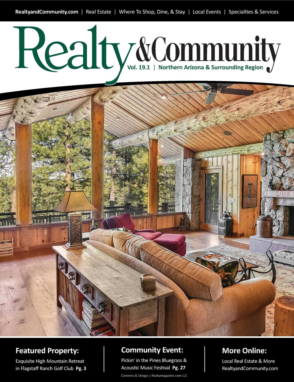 RealtyandCommunity.com   Real Estate   Where To Shop, Dine,   Stay   Local Events   Specialties   Services  Vol. 19.1   No...