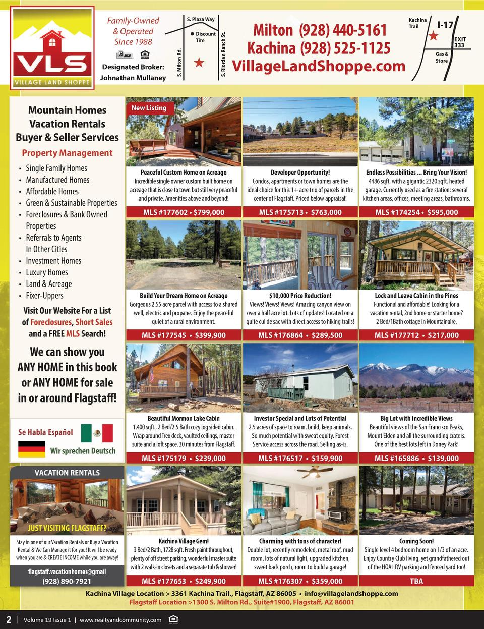 Family-Owned   Operated Since 1988  Mountain Homes Vacation Rentals Buyer   Seller Services  S. Riordan Ranch St.  Discoun...